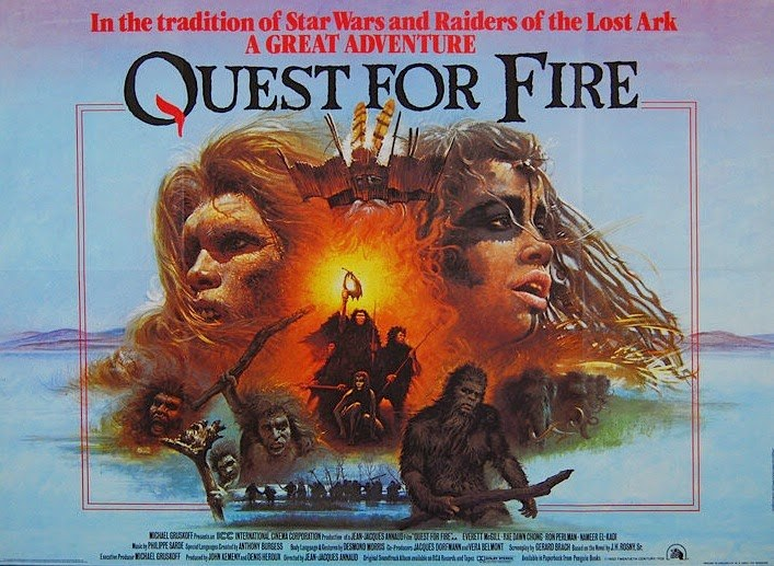 Q 0002 Quest for Fire quad movie poster l