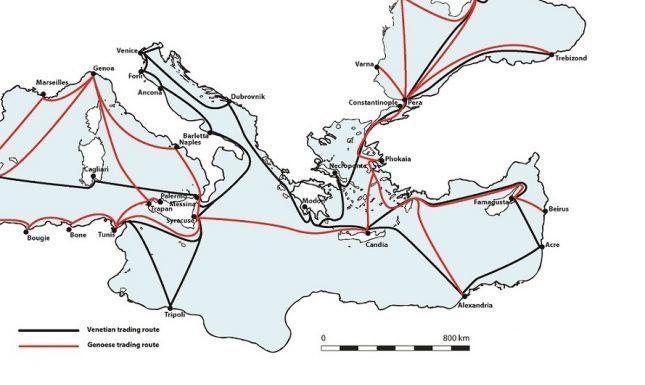 Medieval Italian sea routes 2