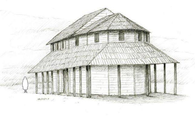 Merovingian village Pontarlier church 7th INRAP