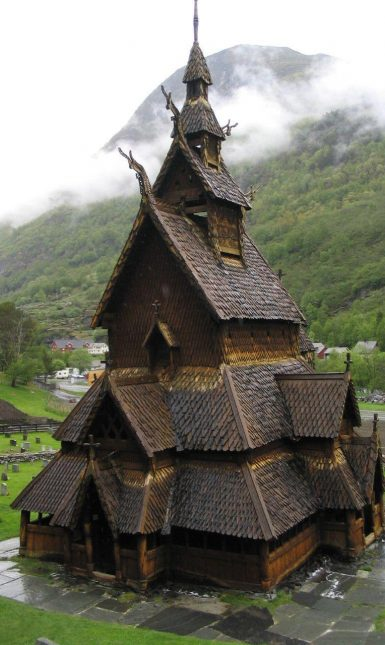 Borgund stave church 1200 wikicommons
