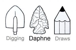 Digging daphne draws